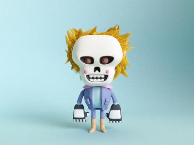 Custome Kid No.1 cinema4d c4d render bad guys club craig gleason 3d character