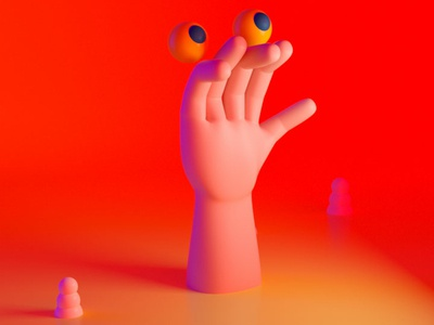 Another Hand cinema 4d character design monster render illustration character 3d hand