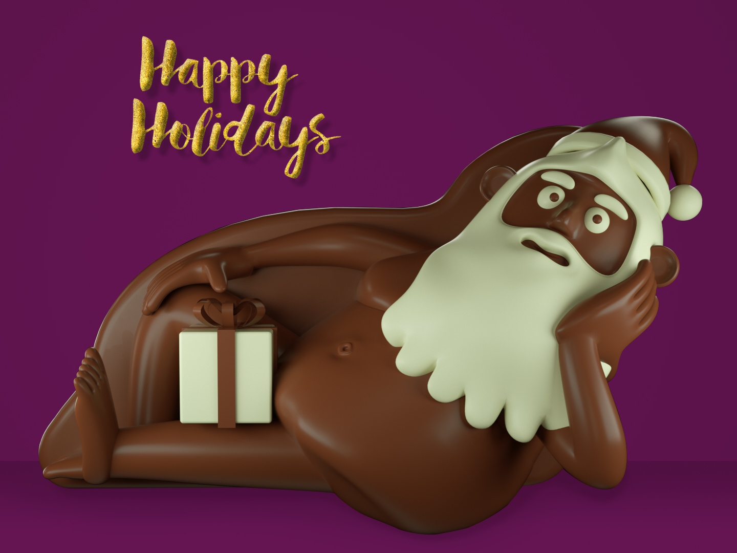 Happy Naughty Holidays cinema 4d render design character design illustration 3d character