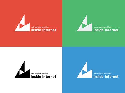 Inside Internet Logo Color Test insideinternet blue red green white inque