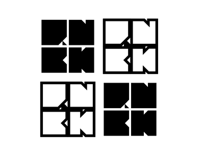 RNBK logo design logo rnbk cube