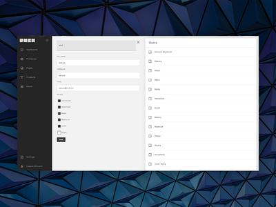 RNBK - web management system webapp input list buttons responsive editor users navigation sidebar management erp cms