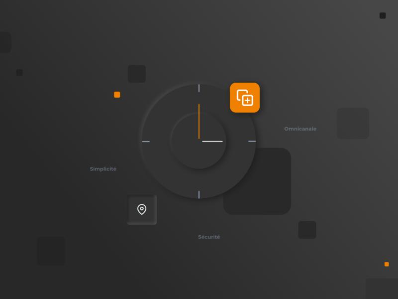 BuyBox black illustration icon webdesign neumorphism vector