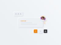 BuyBox star design icon building heart people neumorphism vector