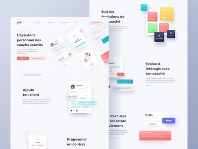 Jiny component landingpage homepage website webdesign layout ui
