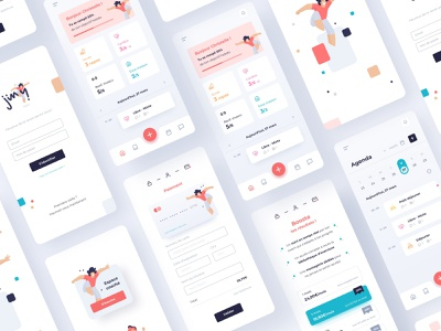 Jiny App mobile mobile ui mobile app ux ui layout application app