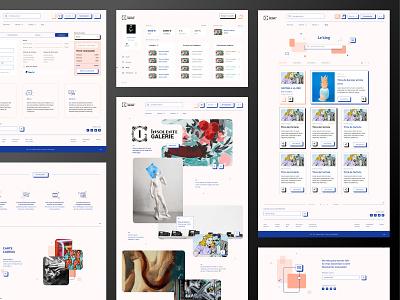 Insolente Galerie popart webdesign ui layout artist art