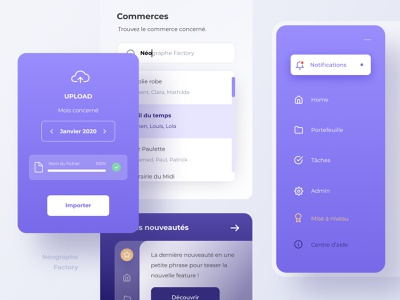 Dashboard download upload dropdown sidebar purple layout ui dashboard app dashboard ui dashboad