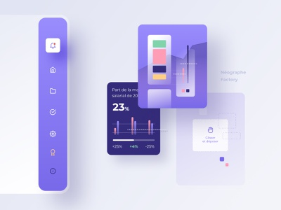 Dashboard components dashboard layout ui purple charts sidebar icon component