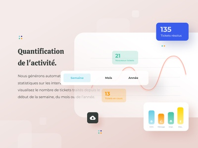Merci Yanis geometric icon ticket graphic chart ui layout