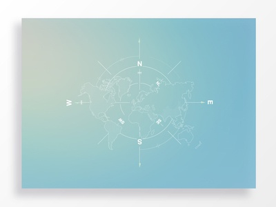 Balance for Business vector outline world city country blue south west east north gradient map