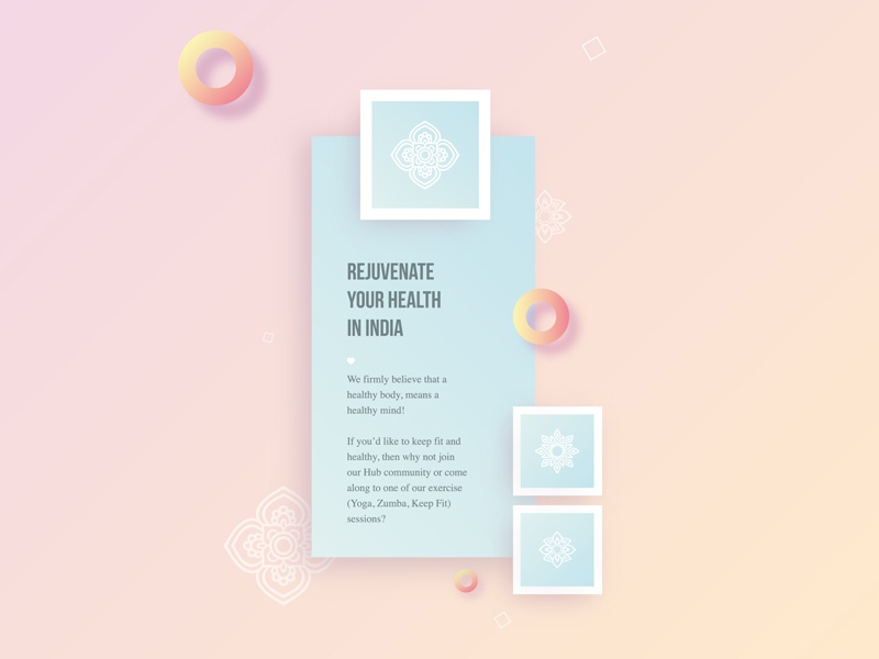 Rejuvenate your Health gradient inspiration care sport mandala flower india geometric circle health