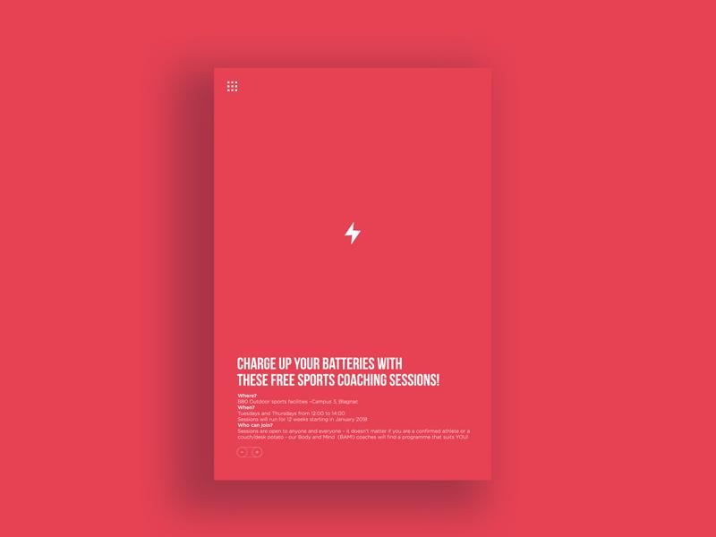Little thunder poster advert inspiration ui minimal minimalist dynamic red sport battery thunder