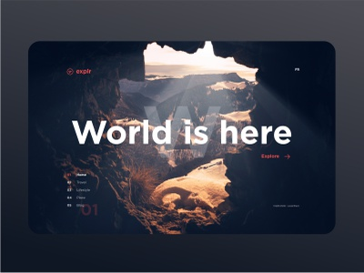 World is here explore page home ux ui world homepage webdesign travel