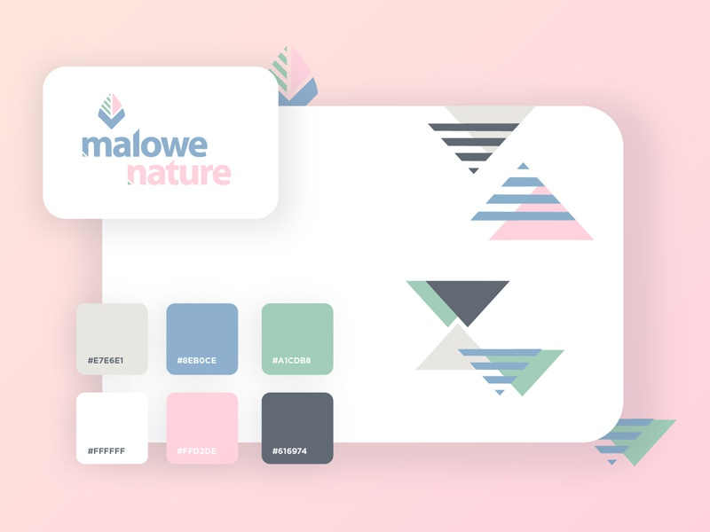 Malowe Nature logotype geometric brand triangle minimalist nature icon vector logo