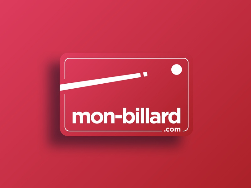 mon-billard.com gradient inspiration red pool eight logotype vector logo