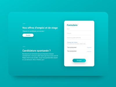 Maatel files download gradient bleu popup job website webdesign medical