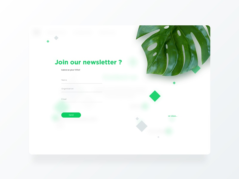 C40 CITIES nature green newsletter ux ui webdesign web diamond leaf city