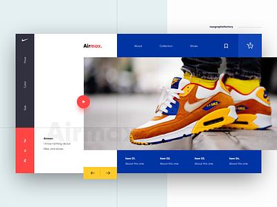Nike airmax geometric nike air max nike webdesign icon layout ux ui shoes