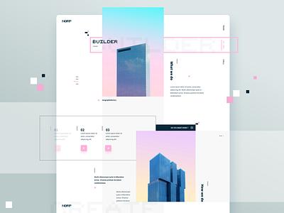 Builder build web sky design geometric webdesign layout ux ui vector