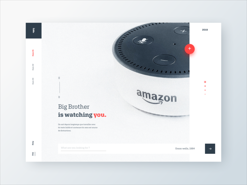 Big Brother is watching you watching brother big amazon webdesign layout ux ui vector