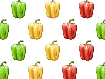 Pepper watercolor pattern