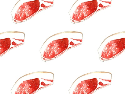Fresh meat slices pattern meat watercolor food illustration meat slices design graphics watercolor food illustration pattern creative market fresh meat