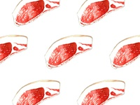 Fresh meat slices pattern