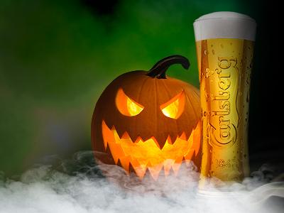Halloween pumpkin concept