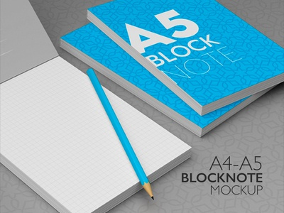 A4 - A5 Block Note Mock-Up