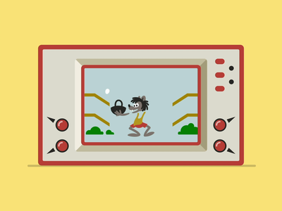 Wolf And Eggs animation motion design wolf eggs game over vintage game video game