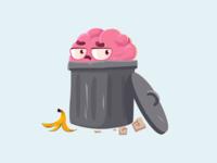 Brain in trash