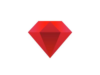 Ruby gradient red gem diamond programming ruby on rails ruby
