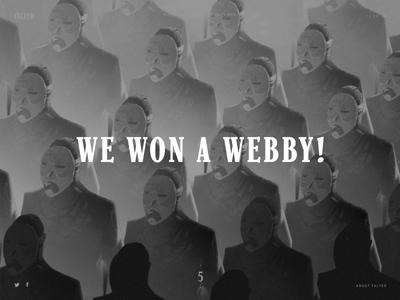 Falter Inferno won a webby!