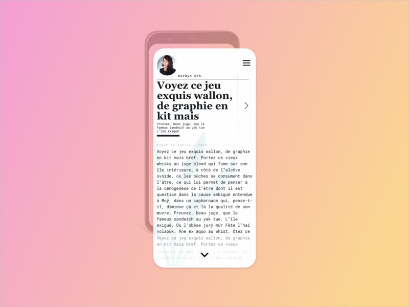 Medium clean ui modern mobile ui post blog type typography medium article