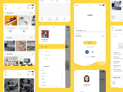 Ecommerce Application adobe xd shop ecommerce