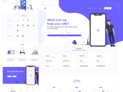 Home Services App Landing Page