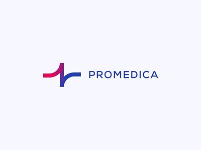 Promedica Logo Concept heart rate heart bpm line ekg concept redesign healthcare health medical vector motion minimal logo graphic design flat design clean branding animation