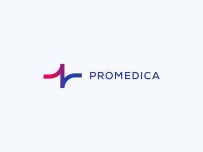 Promedica Logo Concept heart rate heart bpm line ekg concept redesign healthcare health medical vector motion minimal logo graphic design flat design clean branding animation