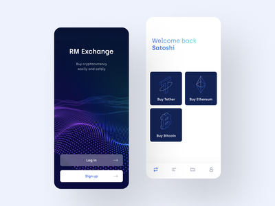 Crypto Exchange wallet ux design ux ui design ui tether tech purple product design mobile app mobile interface icons exchange ethereum cryptocurrency crypto blue bitcoin app