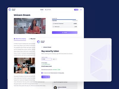 Neuron Invest - Web App blockchain crypto digital token online tech minimal clean ux ux design ui ui design product design interface landing page app product app design website web