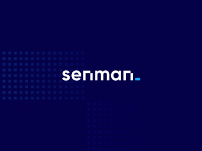 Senman logo typography vector design technology corporate id branding design minimal development digital clean blue brand identity it logo tech corporate identity branding