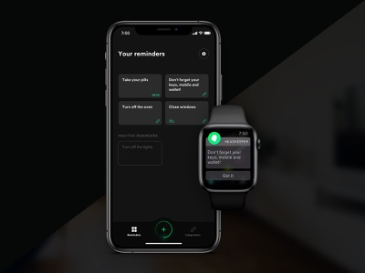 HeadKeeper app concept iphonex smart home iphone smart watch apple watch ios mobile app design mobile app green black iot notification concept app ux ui