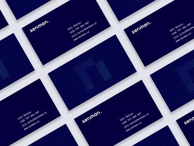 Senman business cards business card technology logo technology tech digital development company development design minimalism minimal clean branding and identity branding design branding brand identity brand design brand logotype logos logo