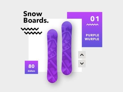 Snow Board Product Page clean website bold snowboard page product web ux ui interface user minimal