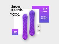 Snow Board Product Page