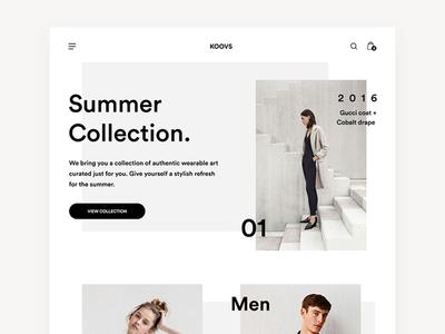 Koovs Minimal Website clean fresh minimal fashion modern bold elegant women contemporary interface ui shop