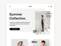 Koovs Minimal Website