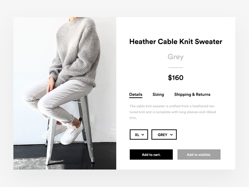Koovs Product Page contemporary commerce shop product checkout interface modern white clean minimal koovs