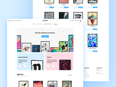 Mashkar | E-commerce Page artistic clean minimal page product website interface poster art wall shop ecommerce